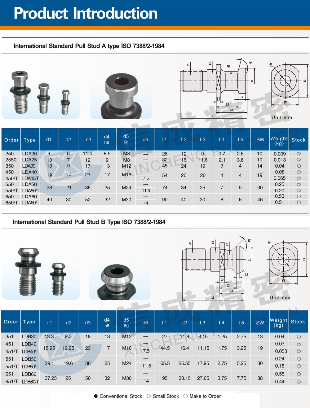 CNC Pull Studs For Tool Holder Use 2016 New