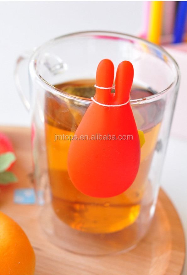 Multifunctional Funny Silicone Spoon Rest / Rabbit Shape Silicone Teabag  Holder/Cute Mini Silicone Tea