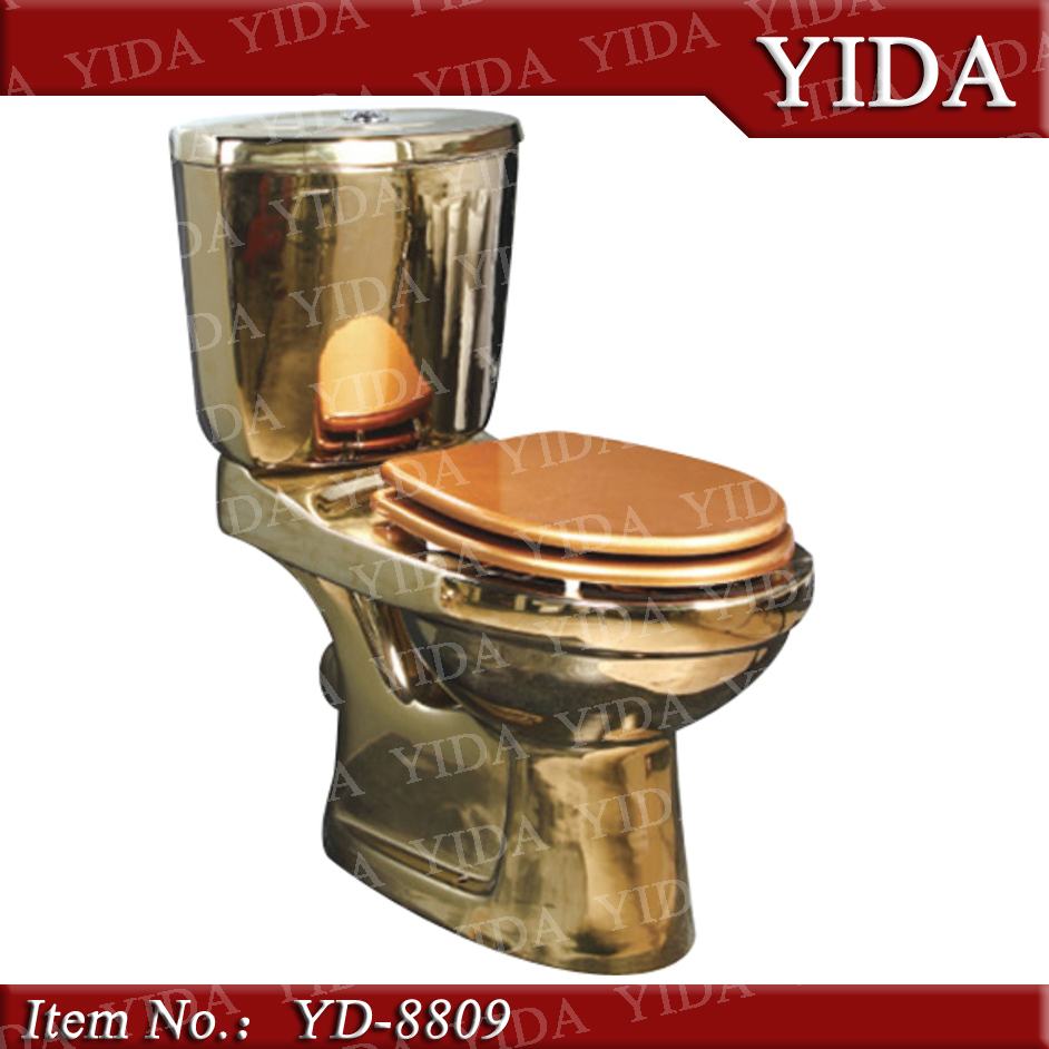 China Washdown Two Piece Gold ToiletGold Plated Toilet Buy Gold - Gold plated toilet seat