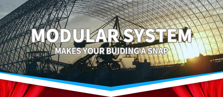 Prefab Galvanized Arch space frame Roof Structure Steel Truss System
