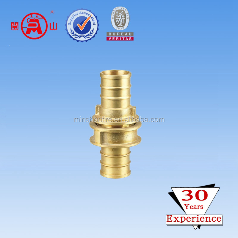 Yellow Brass American NH quick connect fire hose coupling