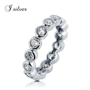 Wholesale hallmark CZ Eternity italy 925 sterling silver ring R500320