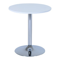 "HomCom 26"" White Round Pub Bistro Bar Table"