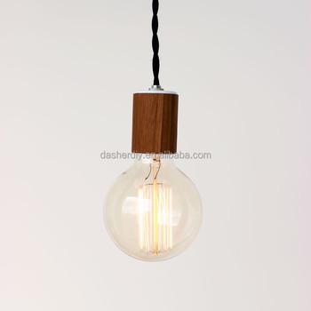 Diy Wooden Pendant Light With Ceiling Rose E26 Lamp Holder Buy