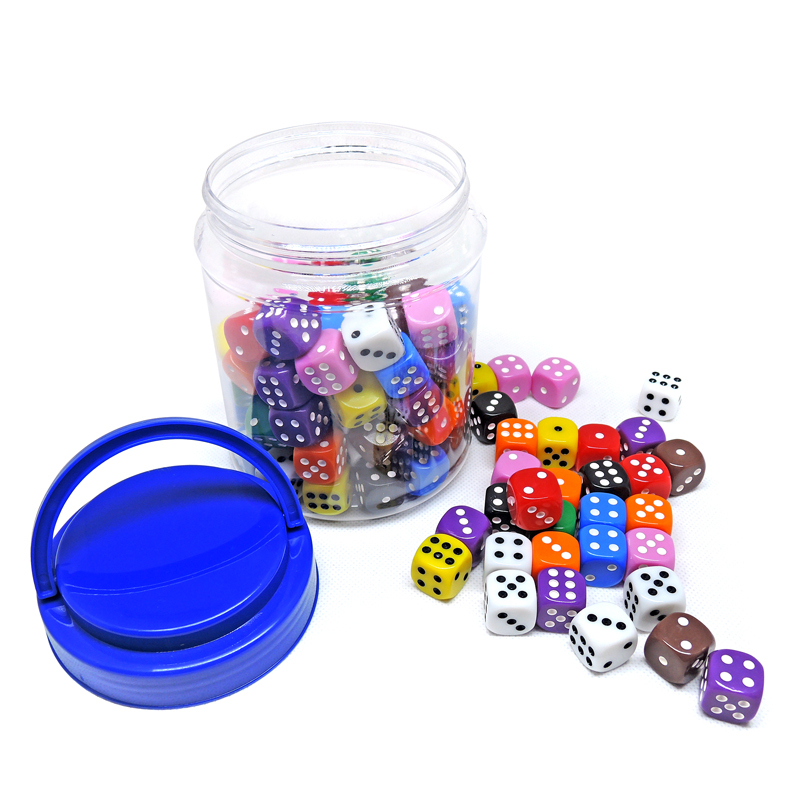 One Set 100 Pieces Dot Dice Children Toys And Indoor Games