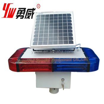 solar power warning strobe traffic road sign light for road safety