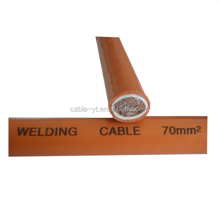 Rubber Insulated Flexible Copper 16mm 25mm 70mm Welding Cable
