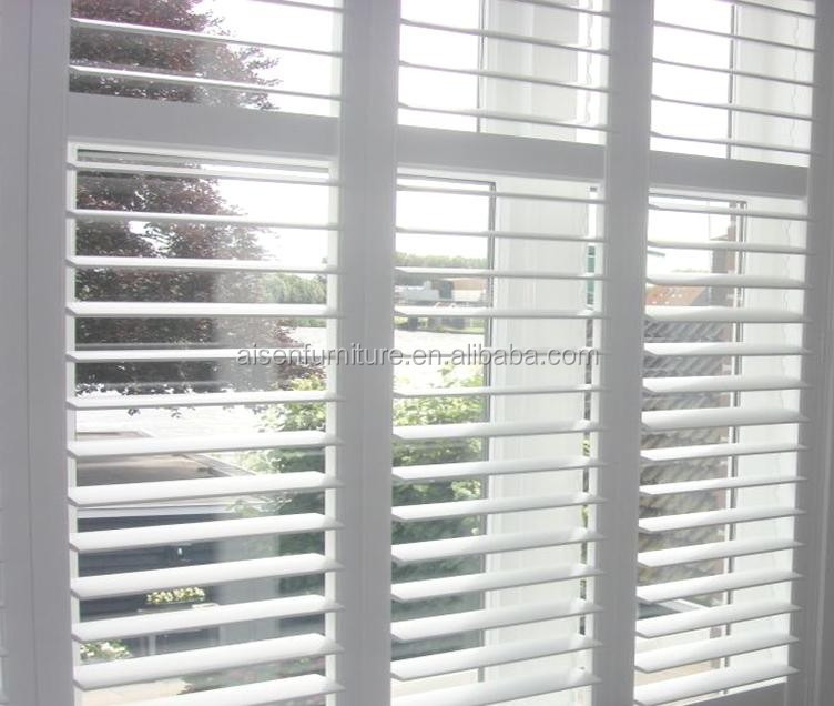 High Quality White Security PVC Profile Shutter/ Exterior Shutter Windows