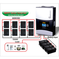 Hot Selling Solar Panel 2KW Roof Roof Mounting Solar System With On Grid Inverter 2KW 3KW 4KW 5KW