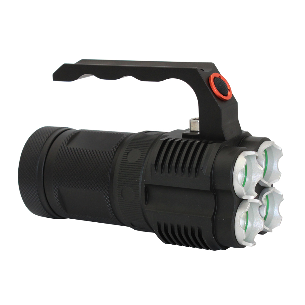 Camping Flashlight Led 4 * <strong>Crees</strong> XM-L2 LED 4500 Lumens Light 40W Rechargeable Torch Lamp Flashlights