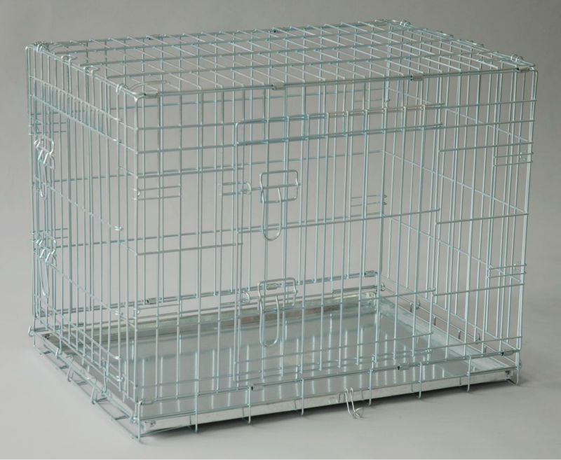 hot sale folding metal pet cage dog crate manufacturer for Uk market