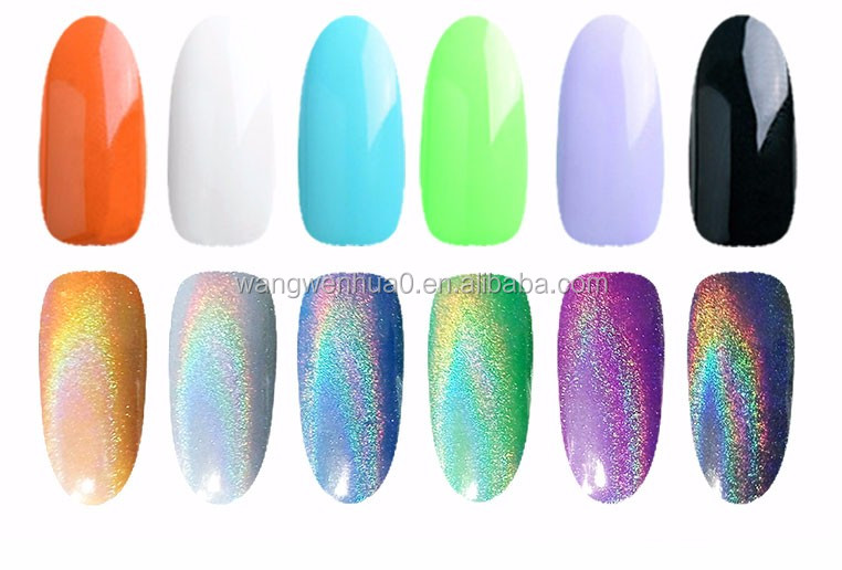 Galaxy Holográfico Cromo Uñas Dipping Polvo Pigmentos Uñas Belleza ...