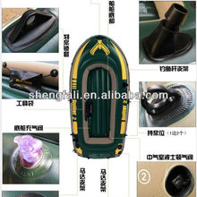 Portable folding inflatable pvc boat with paddles