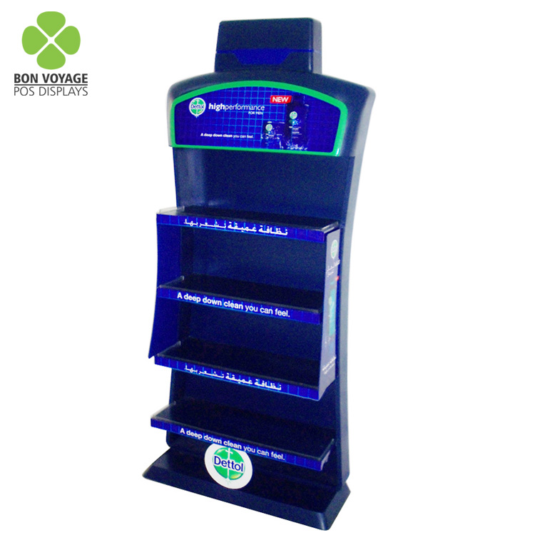 Professional shop wooden shelf exhibition display stands