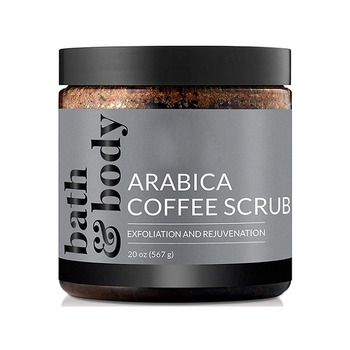 Private label wholesale natural moisturizing coffee scrub organic deep cleansing coffee body face scrub