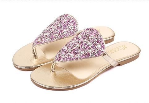 69be51a7fa0d Get Quotations · Glitter Jelly Sandals Gold Jelly Shoes Heart Shoes Women  Female Summer Women Rhinestone Silver Heart Flat