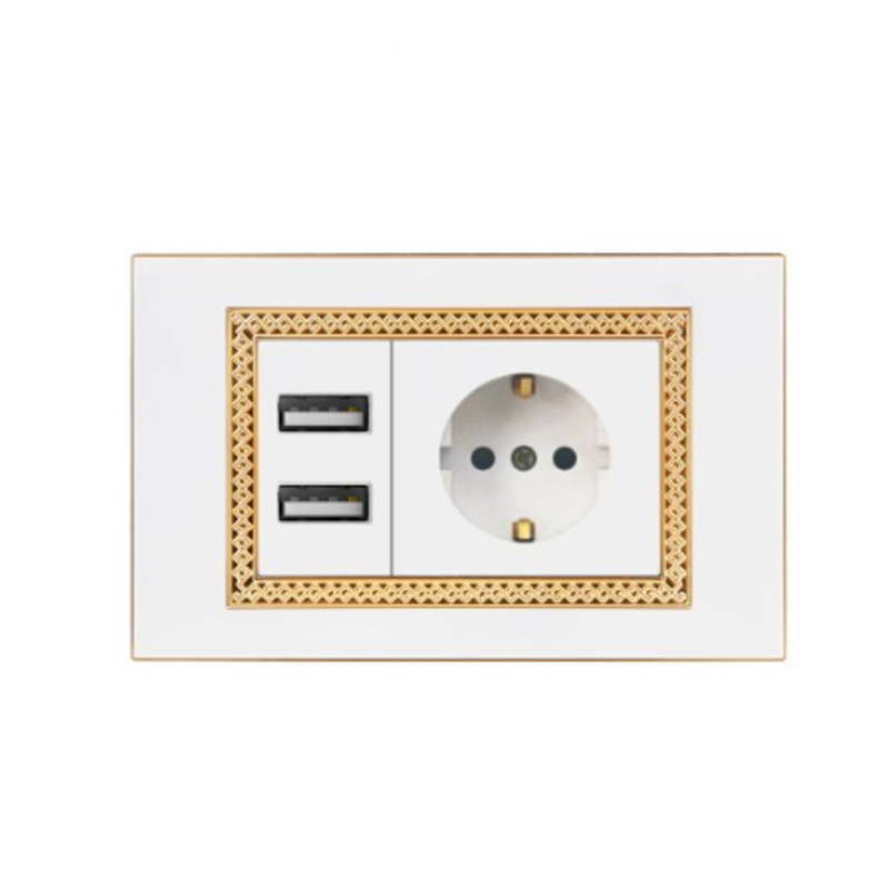 Morden Design usb power socket 2.1A 5V usb socket wall europe in high quality