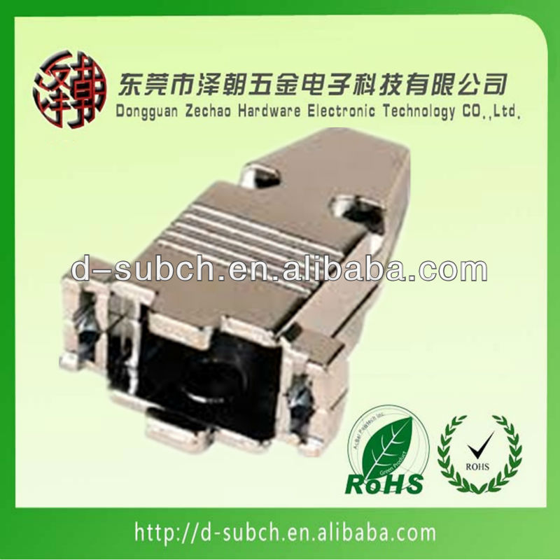zinc alloy backshell,9pin d sub hood ,db9 connection