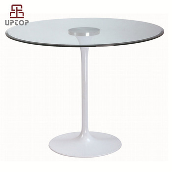Round Gl Ceramic Stone Marble Extendable Tulip Dining Tables For Cafe