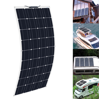 Xinpuguang 100W 18V High Efficiency Monocrystalline Silicon Flexible Solar Panel For Marine Caravan Boat 12V Charging