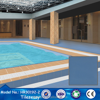 300x300 Blue Exterior Wall And Floor Tile Cheap Swimming Pool Tiles