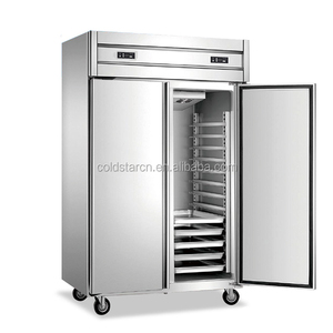 Double temperature GN kitchen refrigerator, restaurant double temperature fridge