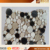 cheap price round marble stone mix color design mosaic tiles