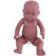 41cm black large soft lifelike naked reborn baby vinyl doll for children