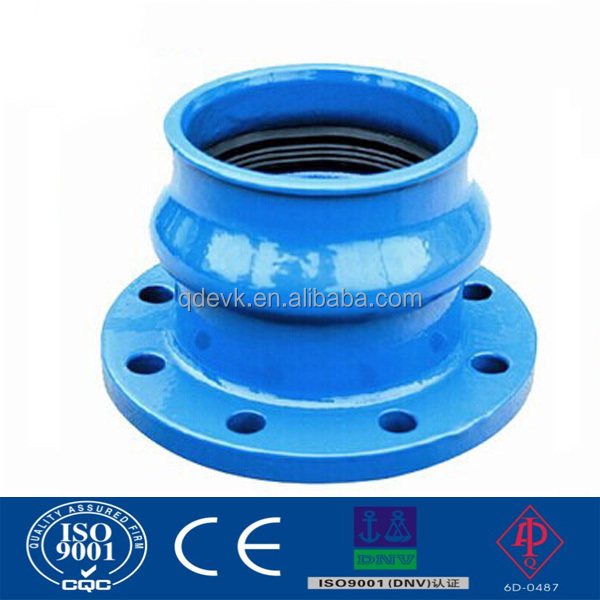 Ductile cast iron restraint flange adaptor for pvc pe pipe