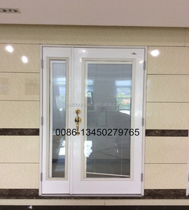 6 panel hollow core metal door with wooden edge