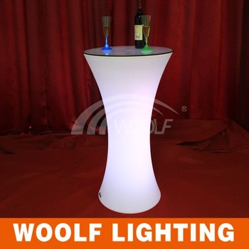 Light Up Led Portable Highboy Cocktail Table