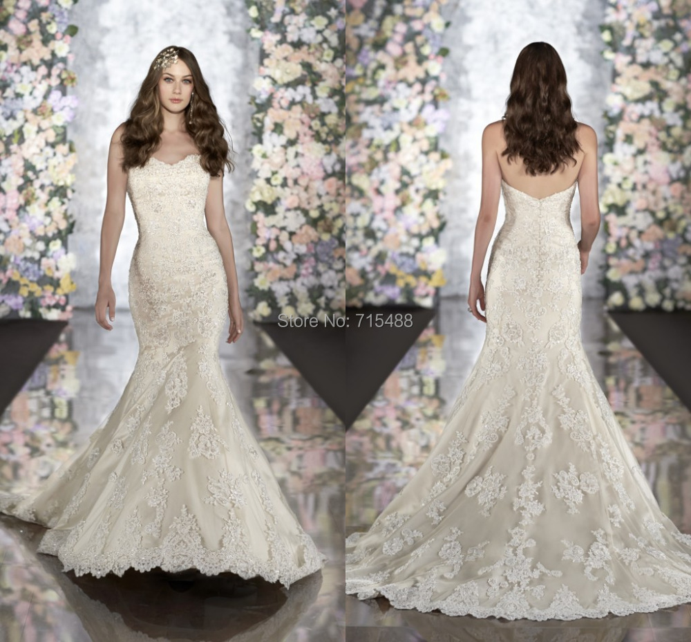 20 Elegant Simple Wedding Dresses Of 2015: 2015 Lace Imported Transparent Corset Made In China