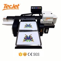 TECJET 6090 DTG 3d Cloth Inkjet Printing Machine Dtg T-shirt/T Shirt Garment Digital Printer for tshirt
