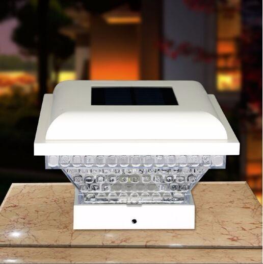4x4 conduit lampadaire solaire pour cl ture solaire for Lampe solaire pour poteau de terrasse