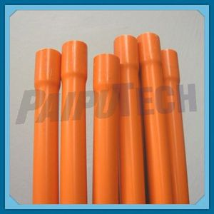 Orange PVC Electrical Conduit Pipe