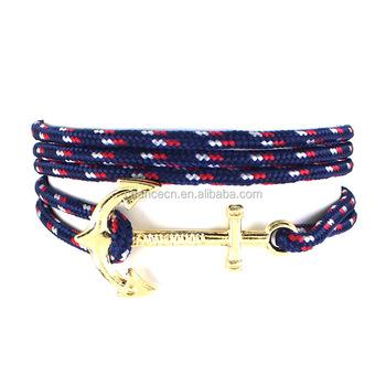 Factory Whole Multi Colors Anchor Rope Bracelet