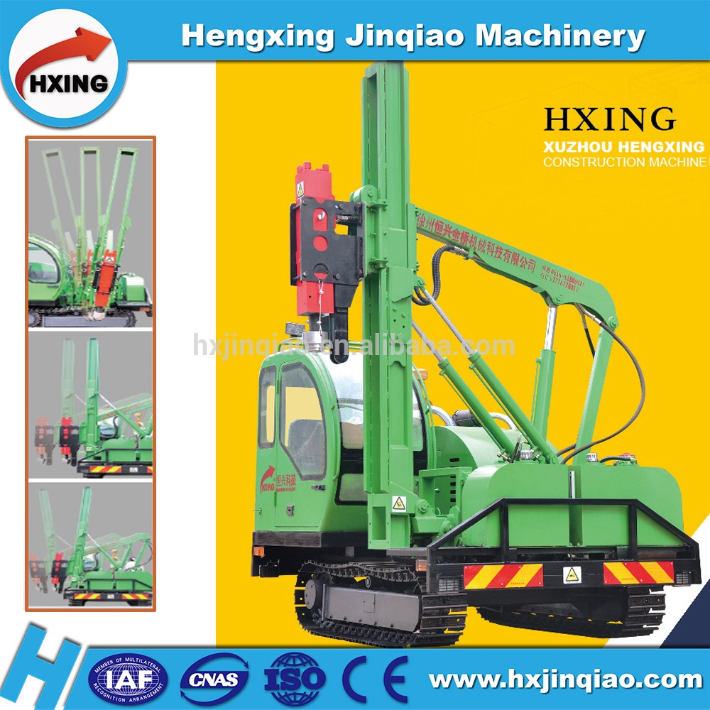 Solar plant mini piling machine