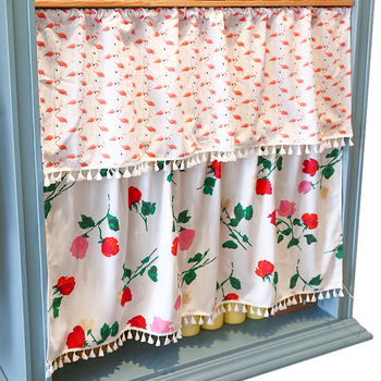 House Bedroom Bathroom Bright Color Sheer Curtain Decoration Window Curtains