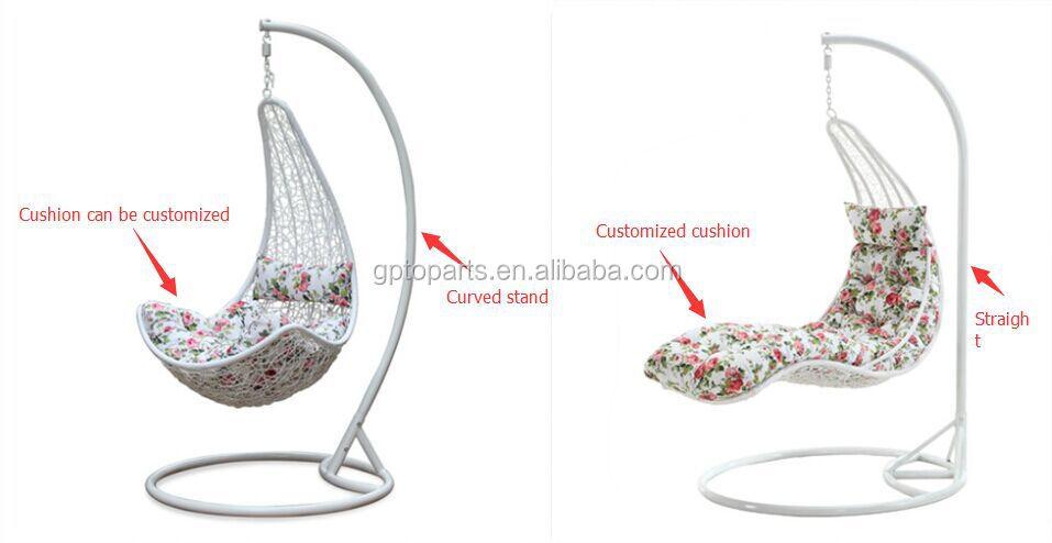 Black Rattan Swing Chair Hanging Chair / Rattan Egg Swing Chair