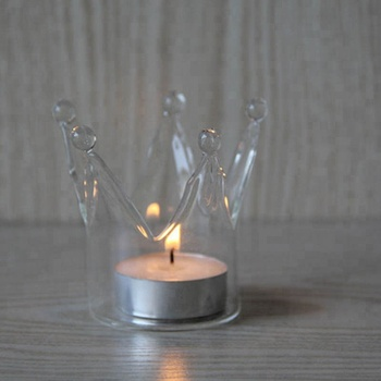 Crown Designed Glass Crystal Hanging Tea Light Candle Holder Buy Glass Candle Holders Cheap Replacement Glass Candle Holder Tall Glass Candle