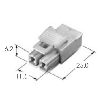 2 pin crimping housing female male ket connector mg611163