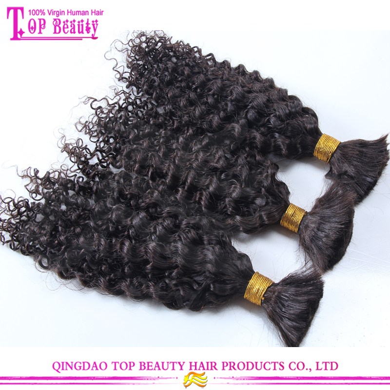 10A grade deep curly bulk hair crochet braid hair unprocessed 100% brazilian human hair bulk