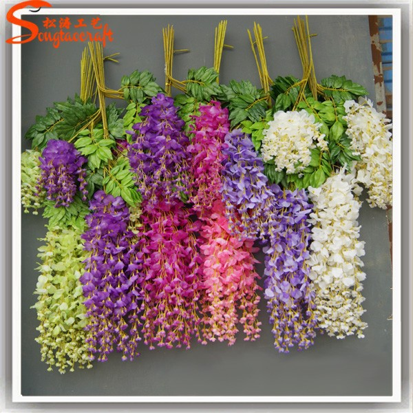 China Factory Import Silk Flowers Of Artificial Wisteria