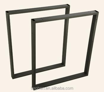 Office Furniture Parts Square Table Leg Black Powder Coating Desk Legs 10004p12