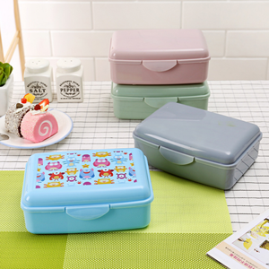Manufacturer cheap cartoon plastic bpa free can microwave kids heated bento lunch box