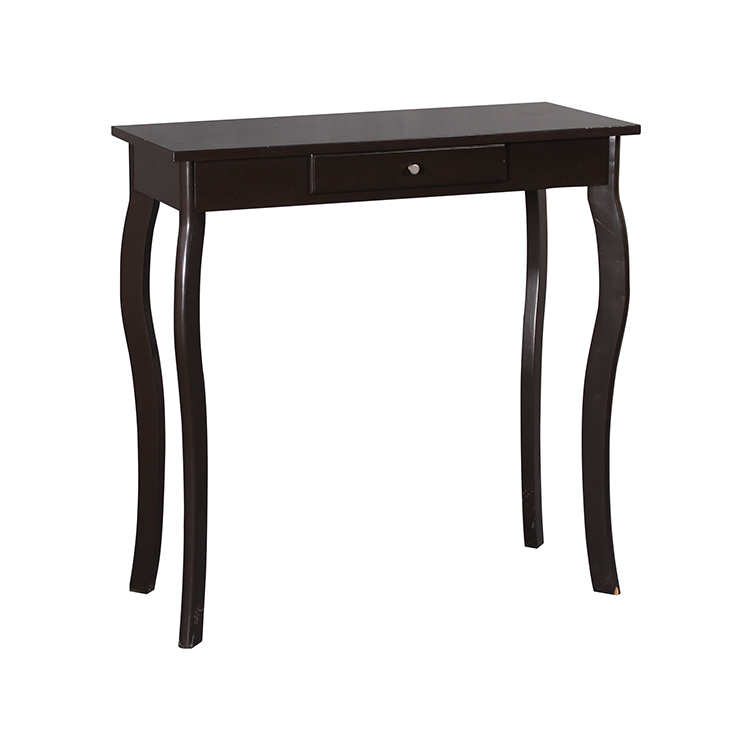 Black Modern Hallway Console Table With