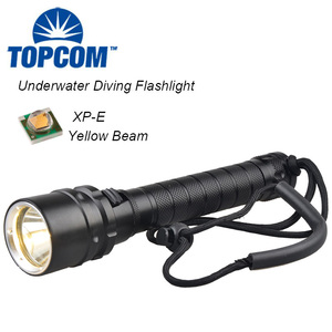 XP-E Yellow Light Multi-color LED Diving Torch Under Water 100m Dive flashlight