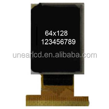 0.96 inch micro oled display 64*128 resolution UNOLED50333