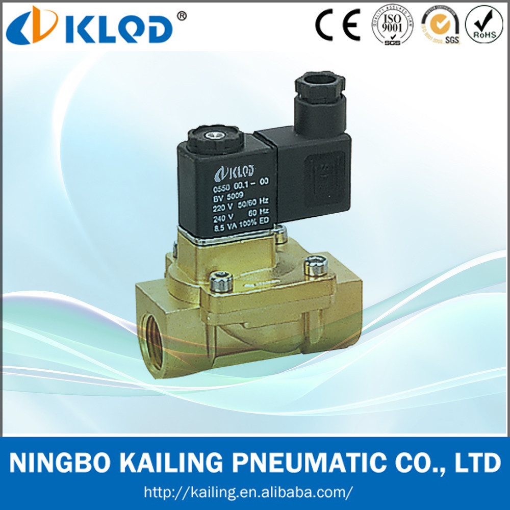 "2V130-10 3/8"" pilot acting brass material electronic valve"
