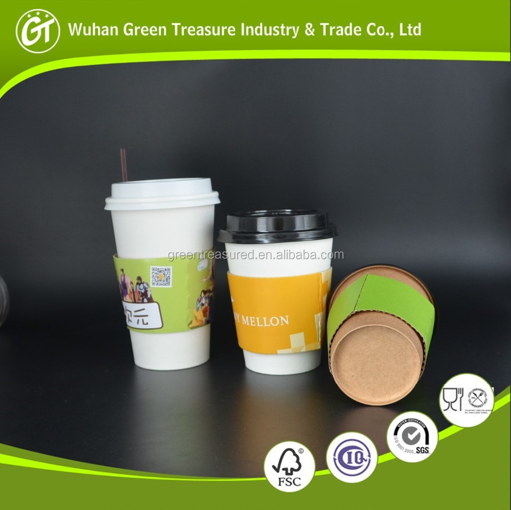 2016 Eco Printing Design Your Own Paper Cup Coffee Cups Custom Disposable